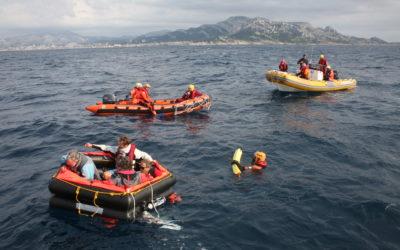 Stage sécurité en mer – Quelques photos