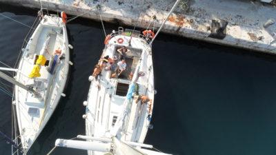 Stage de formation manoeuvres de port et amarrage sur voilier
