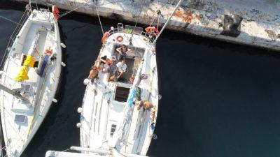 stage formation voile manoeuvres de port et amarrage voilier à Marseille
