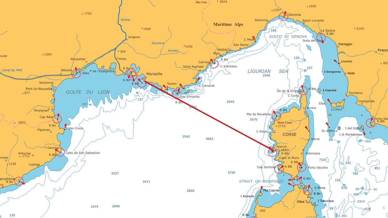Stage voile Méditerranée : traversée Marseille Corse