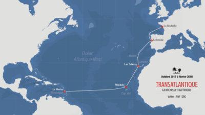 Stage voile transat France Antilles - Embarquement équipier voilier